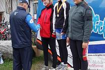 MTB NA ČERCHOVĚ. Rozdílem tří minut vyhrála sobotní závod Veronika Vlčková, zastupující barvy pořádajícího týmu Velosport Domažlice.