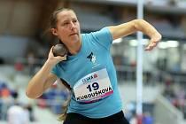 Simona Kuboušková na archivním snímku z mistrovství ČR žactva 2019 v Ostravě, kde soutěžila i ve vrhu koulí.