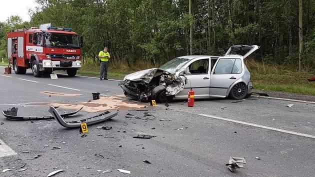 Páteční nehoda u Kdyně.