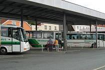 Domažlické autobusové nádraží.