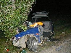 Tragická nehoda u Borovice.