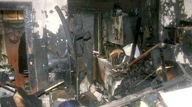 Požár podkroví ve Staňkově.