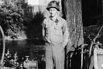 Vasil Borsjik, člen americké posádky, který tragicky zahynul při autonehodě 19. srpna 1945.