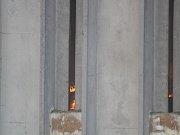Požár seníku ve Staňkově.