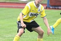 Fotbalista Jiskry Domažlice Martin Vísner.