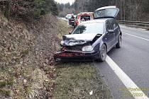 Volkswagen Golf havaroval u České Kubice.