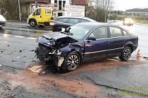 Nehoda ve Kdyni.