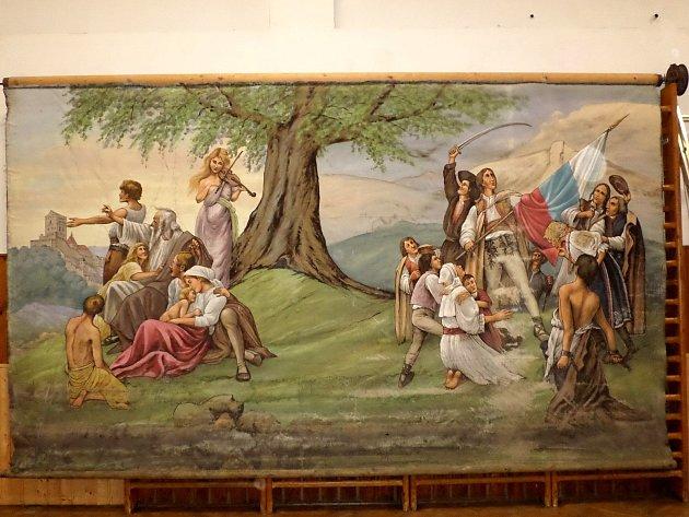 OPONA MALOVANÁ JOSEFEM AMERLINGEM a nalezená v Příchovicích.