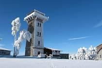 Kurzova věž v zimě.