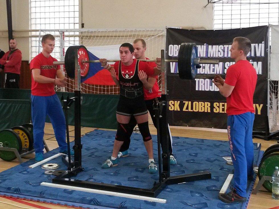 Jan More (Fitness Club Staňkov), nejlepší junior na Mistrovství západních Čech.
