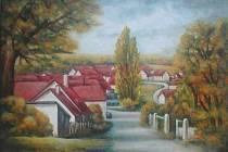 VESNIČKA MÁ MALOVANÁ. Malířka Jana Hrušková zvěčnila Všekary v souboru 12 obrazů, z nichž vznikne kalendář na příští rok.