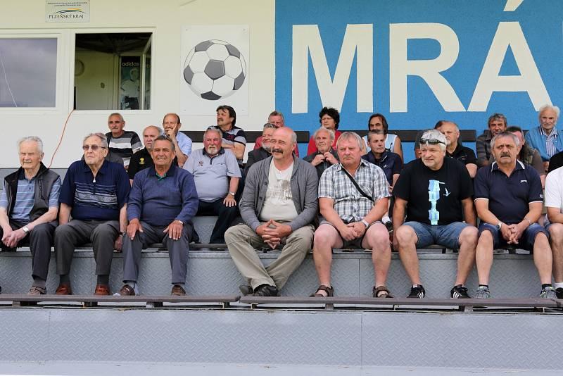 Setkání bývalých fotbalistů Sokola Mrákov.