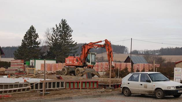 Stavba nové MŠ v Poběžovicích.