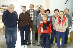 Zahořanská skupina ve víceúčelových prostorách v obci Stanětice.
