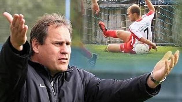 Daniel Drahokoupil jasně viděl penaltovou situaci, sudí ne, je možné, že jí posoudili jako nastřelenou? // ČFL: Kladno si poradilo s Hlavicí 2:1, hráno 22. 9. 2012