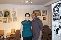 Kateřina Sam, rozená Tvardíková s manželem.
