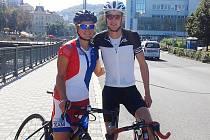 Domažlická Jana Brantlová s dvojnásobným olympijským medailistou Jonathanem Brownleem.