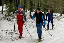 Z lyžařského přejezdu Gibacht-Capartice.