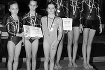 Sportovní gymnastky TJ Sokol Domažlice.
