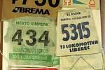 Startovní čísla z významných závodů.