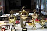 Blyštivé poháry, které vyhrál hlubocký Karel Duchek.