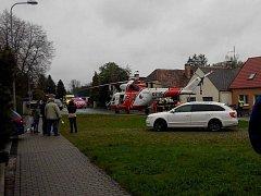 K nehodě v Havlovicích letěl vrtulník