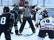 Z utkání starších žáků HC Domažlice a HC Příbram.