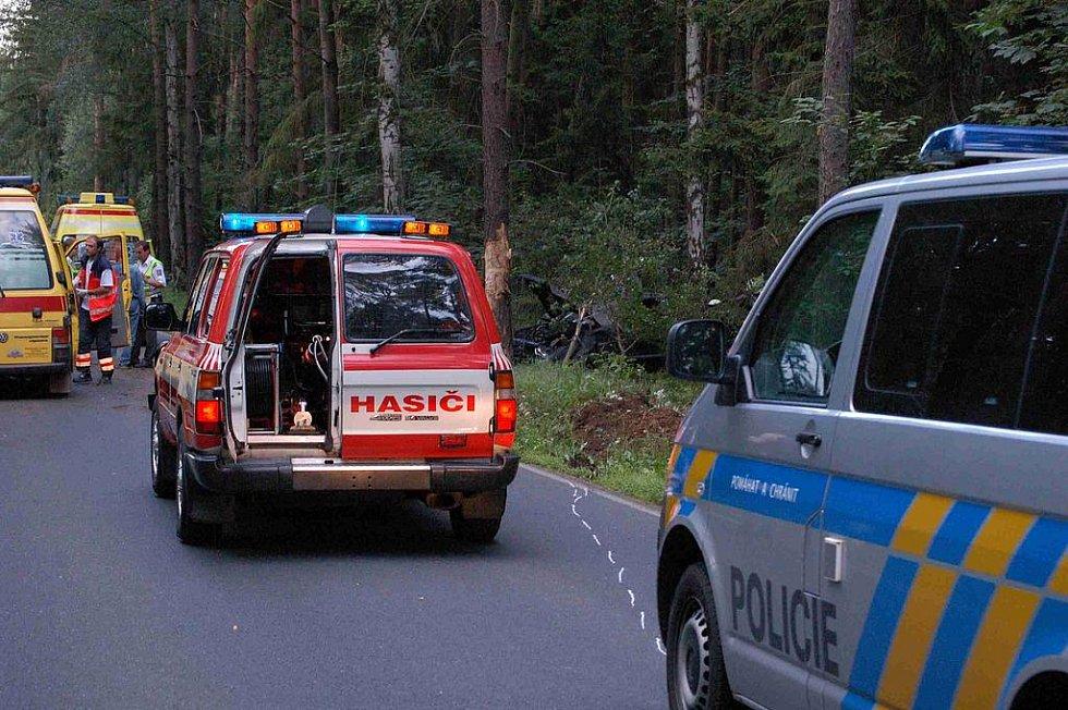 Nehoda v Týnských hájích