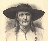 JAN SLADKÝ KOZINA, sedlák a obhájce práv a svobody Chodů na kresbě Jana Vilímka.