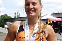 Stříbrnou medaili si na krk pověsila bělská oštěpařka Andrea Balíková v dresu Sokola Plzeň-Petřín.