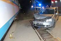 Nehoda na želeuničním přejezdu ve Staňkově.