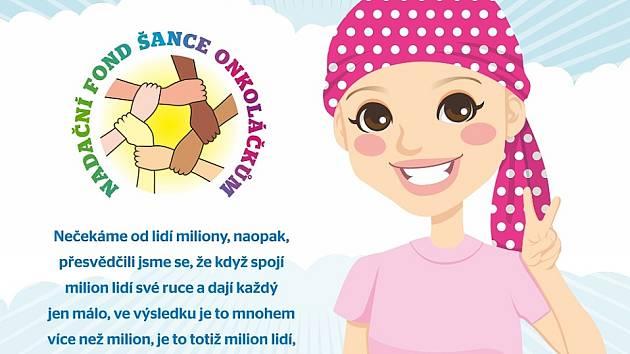 Nadační fond Šance onkoláčkům má moc hezké logo i vyznání.