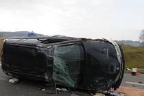 Pondělní nehoda u Kdyně.