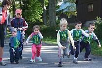 Start  nejmladší kategorie předškoláků.
