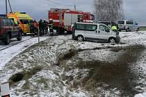Dobravní nehoda u Velkého Malahova.