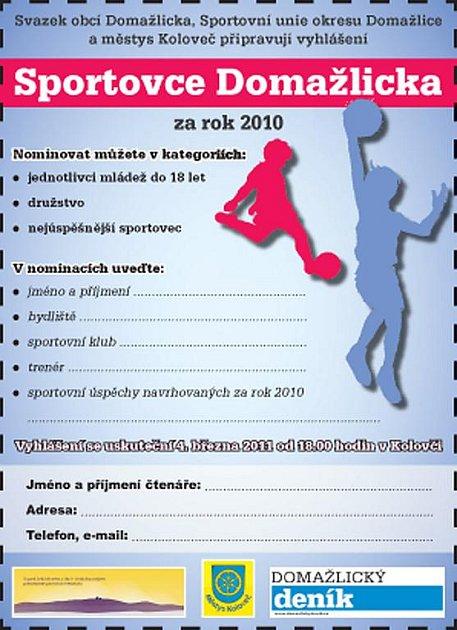 Sportovec Domažlicka za rok 2010.