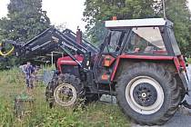 Tento traktor zmizel v červnu z Černé Řeky.