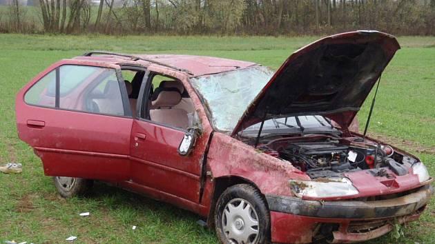 Dopravní nehoda u Domažlic.