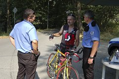 DOMAŽLIČTÍ STRÁŽNÍCI kontrolují cyklisty během celého roku.