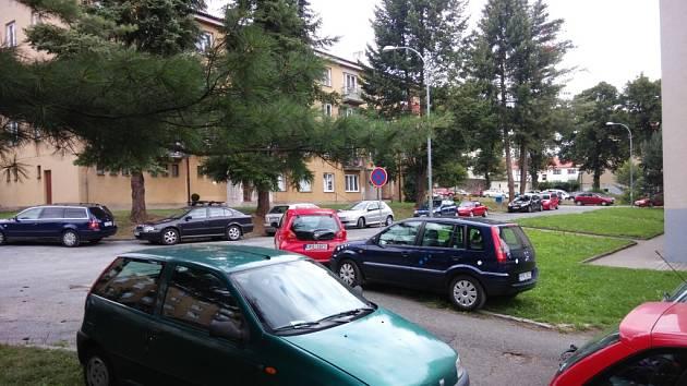Kam s ním? Mnozí motoristé během slavností parkují auta na trávníky.