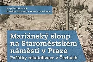 Kniha Mariánský sloup na Staroměstském náměstí v Praze.