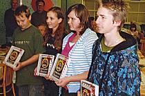 Tomáš Kraus (zprava) nenašel přemožitele, vedle něj jsou další Západočeši - Gabriela, Sára a Samuel Soukupovi z Plzně.