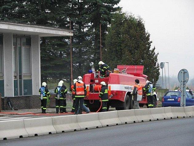 Z přeshraničního námětového cvičení hasičů.