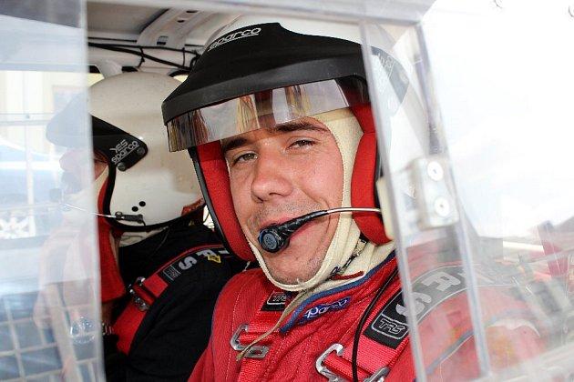 VE VSETÍNĚ PRVNÍ. Koutsko-kdyňská posádka Jan Freia Petr Šlegl na trati 13. Bonver – Partr Rally Vsetín.