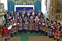 Z vánočního koncertu Chodského souboru Mrákov v Trhanově.