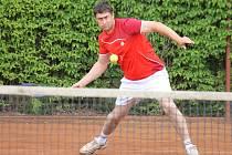 Z utkání Davis Cupu na Domažlicku.