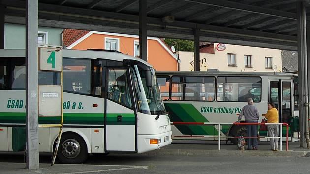 Domažlické autobusové nádraží. Ilustrační foto