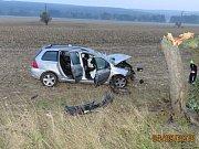 Vážná nehoda u Křenov.