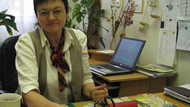 Ředitelka Základní školy ve Kdyni Jaruška Šafránková.