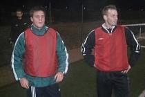 Ze zahájení zimní přípravy fotbalistů SK Roudnice nad Labem.